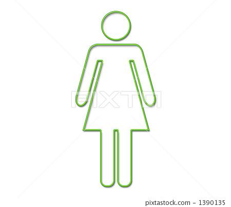 女 首页 插图 人物 女性 女孩 人物图标 女性 女  *pixta限定素材仅在