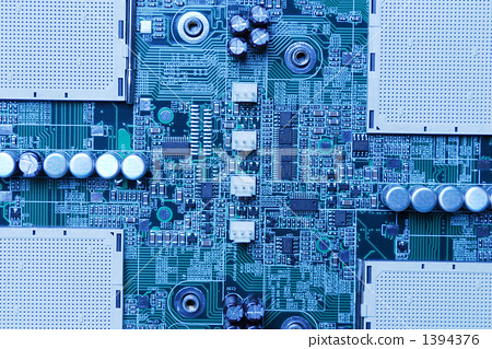 图库照片: 电子 电路 环形