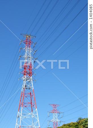 钢塔 高压电线 电缆塔