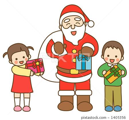 儿童 圣诞老人 孩子
