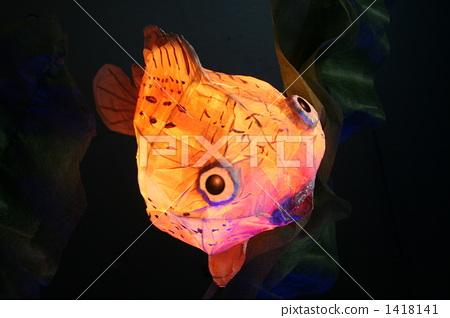 纸灯笼 中国灯笼 河豚鱼