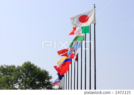 横幅 旗子 所有国家的国旗-图库照片 [1472125]