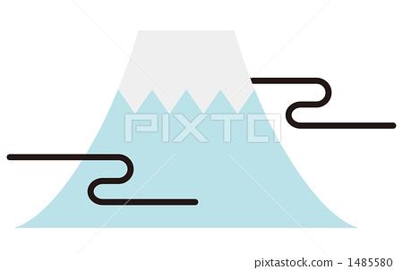插图素材: 富士山 背景素材 背景材料