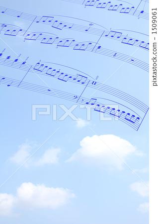 音符 蓝天 天空