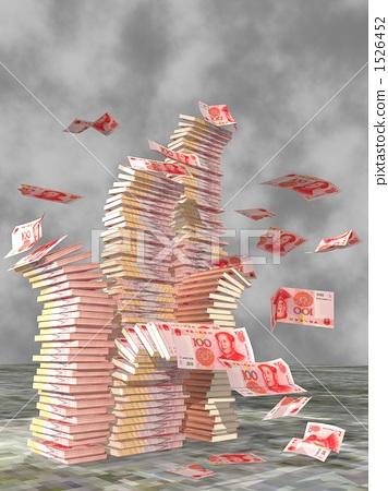 插图素材: 人民币 一叠钞票 钞票