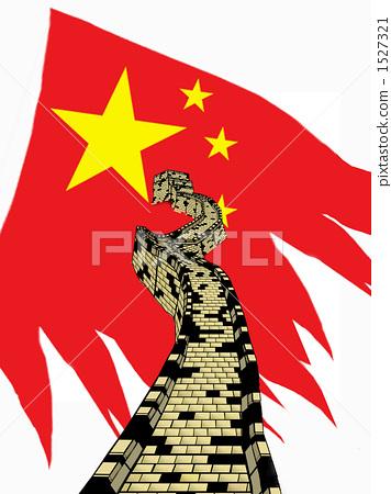 中国国旗图片大全手绘-创意中国国旗图片大全/中国旗