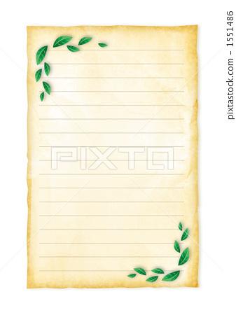 插图 文字_记号 文字 字母 书写板 信纸 书写纸  *pixta限定素材仅在