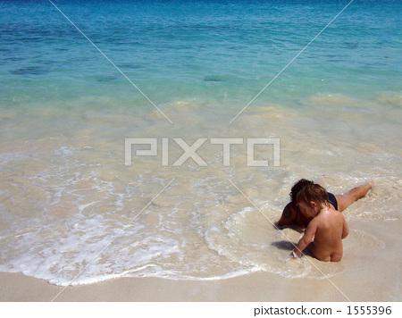 照片: 宝贝 动物宝宝 沙滩