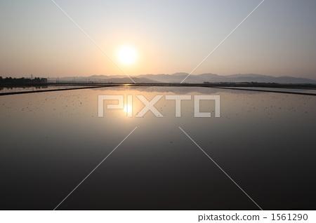 图库照片: 酒井平原的风景