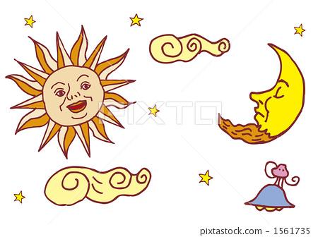 云彩 太阳 星星