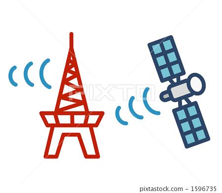 无线电塔 人造卫星 天线杆