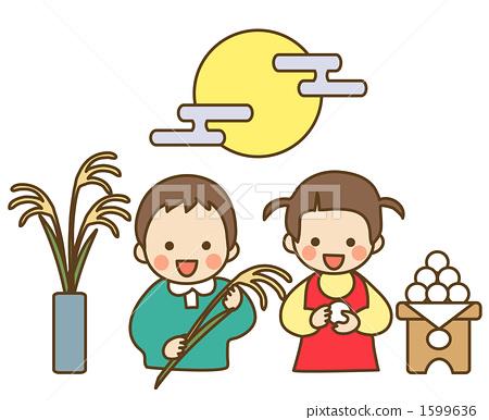 儿童 中秋节之夜 月圆之夜