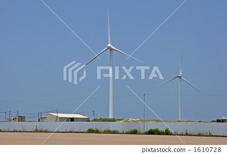 图库照片: 在坂田附近散步·风车的风景