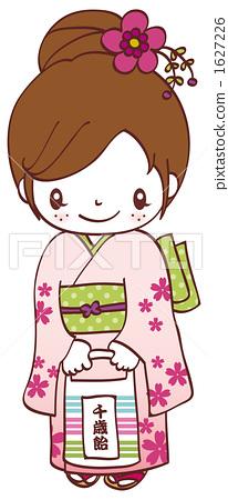 """日本节日""""七五三"""" 和服 孩子"""