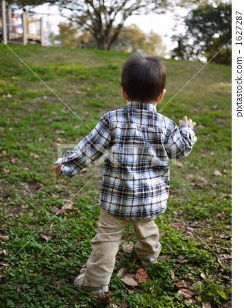 图库照片: 背影 儿童 孩子