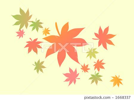 图库插图: 树叶变色 红叶 橙色