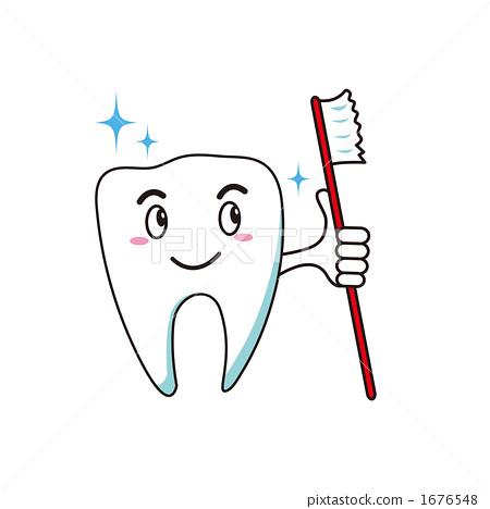 插图素材: 牙齿保健 牙膏 牙粉
