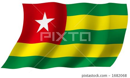 图库插图: 多哥 国旗 旗帜