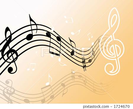 曲调 乐谱 音符