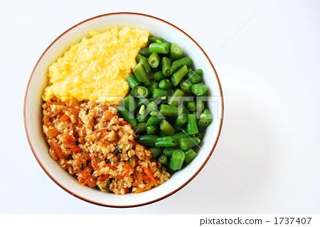 绿色 食物 黄色