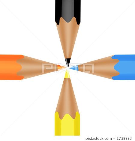 手绘彩色办公用品