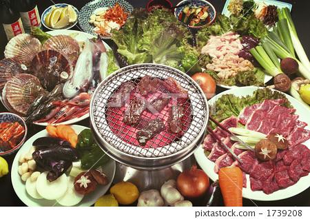 图库照片: 韩国烧烤 韩式烤肉 韩式烧烤