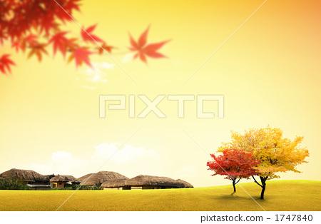 秋天颜色 景色 场景-秋天收获的场景 秋天的收获儿童画图片