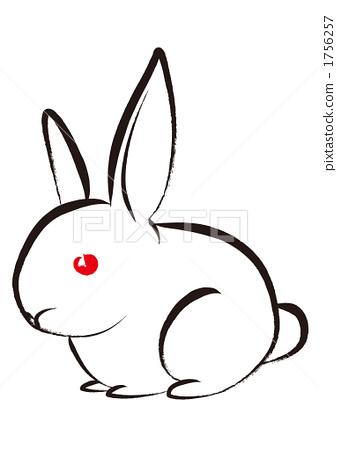 手绘兔子步骤图片