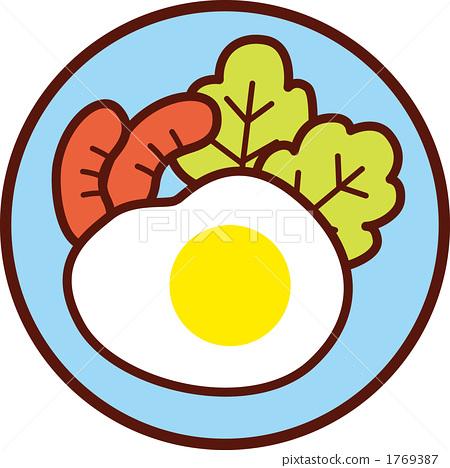 鸡蛋 煎蛋 荷包蛋 早餐 蛋黄 面包 叉子_6669786_xxl