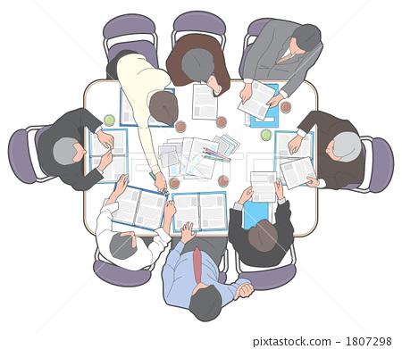 图库插图: 雇员 劳动者 办公室场景