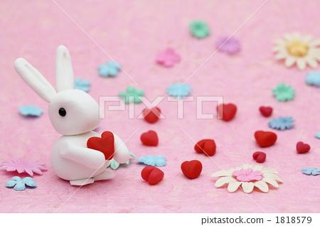 兔子 用粘土做东西 粘土工作