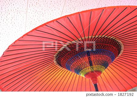滑油纸伞 日本伞 红色