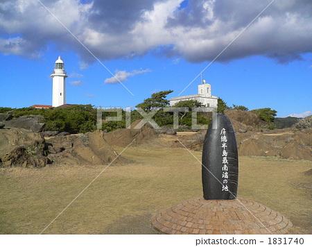 野岛崎 灯塔 非城市场景-图库照片