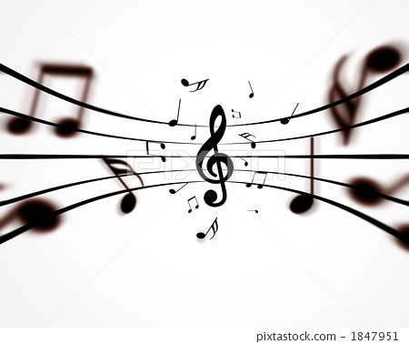 g调号 高音谱号 音符