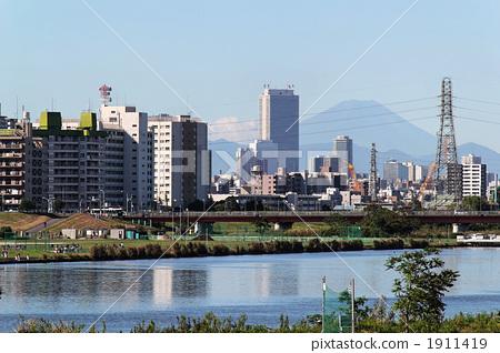 景色 河原 非城市场景