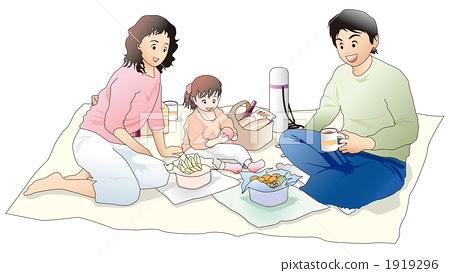 爸爸与女儿简笔画