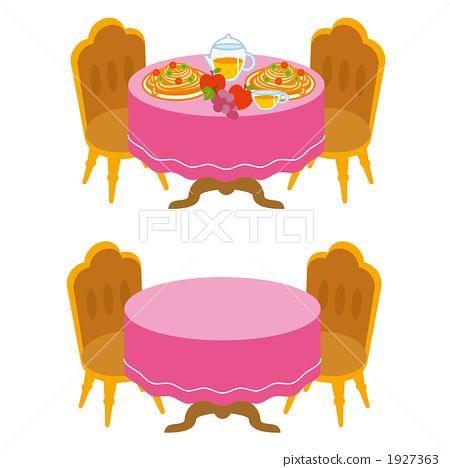 插图素材: 餐桌布置 家具 illustration