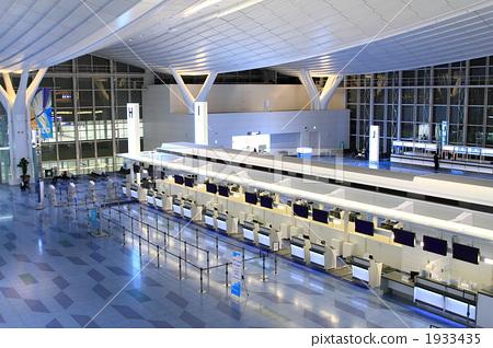交通设施_建筑 机场 羽田机场 计数器 吧台  *pixta限定素材仅在pixta