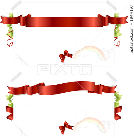 图库插图: 彩带 缎带 蝴蝶结