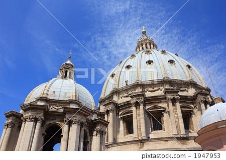 圣彼得大教堂 圆屋顶 景色