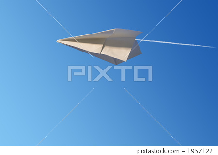 纸飞机 折纸 飘扬