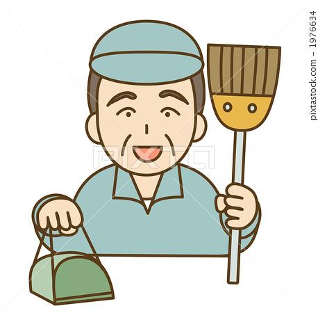 图库插图: 保洁员图片