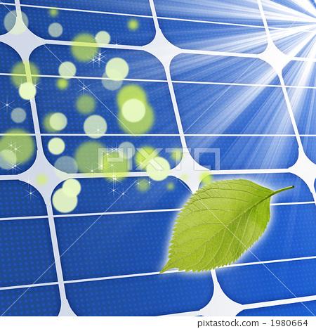 插图素材: 太阳能发电 太阳能板 太阳能
