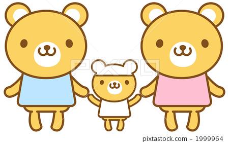 图库插图: 矢量 熊 家庭