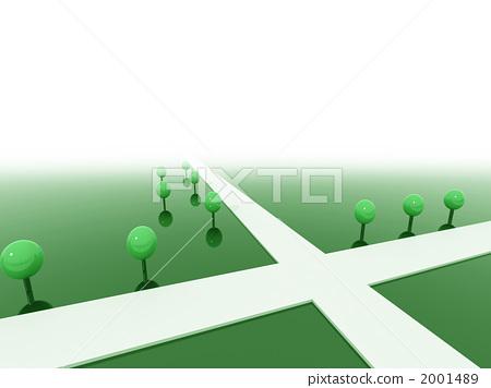 插图 交通工具_交通 道路_道路 交叉路 道路 小路 路  *pixta限定素材