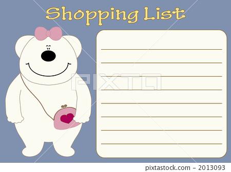 图库插图: 我购物清单图片
