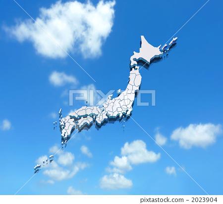 日本地图 日本 轮廓图