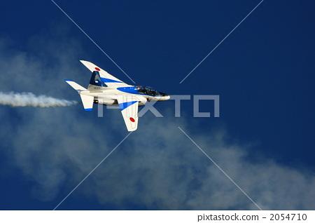 户外 骑自行车 蓝色冲击波 喷气式飞机 飞机  *pixta限定素材仅在