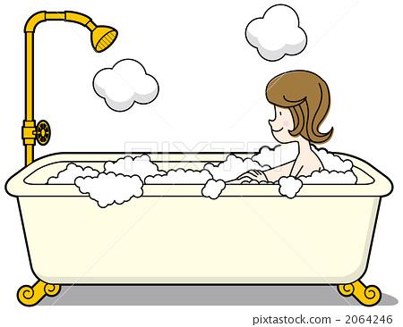 卫生间 洗澡 泡泡浴