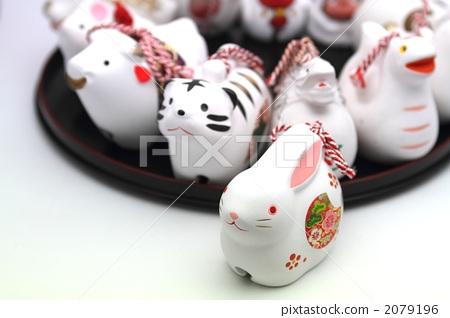 陶瓷钟 兔子 动物